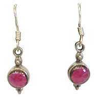 Sterling Silver Rhodolite Garnet Earrings