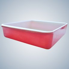 "PYREX Flamingo Pink 8"" Square Baking Dish"