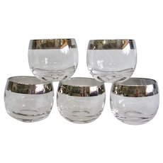 Set of 5 Mad Men Roly Poly Rocks Glasses