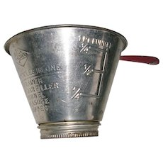 Vintage Nesco Multi Use Tin Funnel Measure