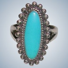 1960's Bell Trading Post Turquoise Sterling Ring