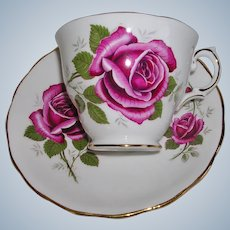 Royal Kent Pink Rose Teacup and Saucer England
