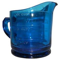 Intense Ultramarine Glass Measuring Cup
