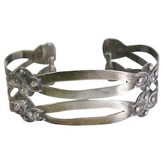 Taxco Hand Wrought Sterling Silver Cuff