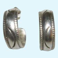 Sterling Silver Hoops Diamond Cut design