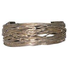 Unique Silver Wire Cuff Bracelet
