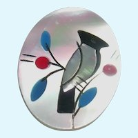Lovely MOP Micro Inlay Bird Stick Pin