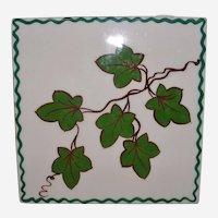 Signed Mid Century Motney Ceramic Tile Ivy Design