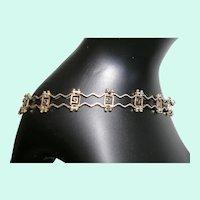 Sterling Mexico Unique Wire Link Bracelet