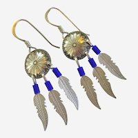 Dainty Conch & Feather design Sterling Earrings