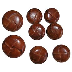 Vintage Leather Knot Buttons