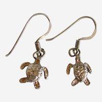 Mini Sea Turtles Sterling Earrings