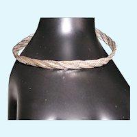 Italian Triple Herringbone Twisted Sterling Bracelet