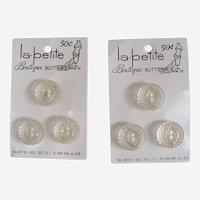 Fancy Lucite Carded Buttons La Petite