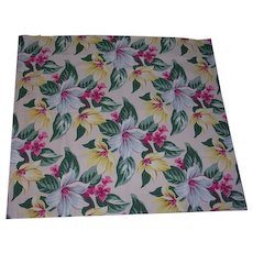 Vibrant Floral Bark Cloth Curtains 2