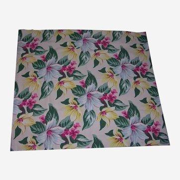 Vibrant Floral Bark Cloth Curtains 2
