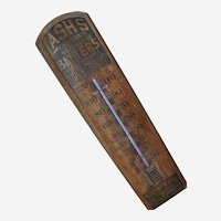 Large Homer's Ginger Brandy and Lash's Bitters Wood Wall Thermometer