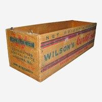 Vintage Wisconsin Cheese Box Wilson's Certified