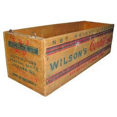 Vintage Wisconsin Cheese Box Wilson's Certified