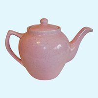 Bauer Pottery Pink Speckled Teapot Monterey Moderne