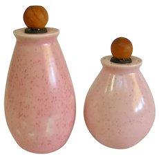 Bauer Pottery Pink Speckled Salt & Pepper Monterey Moderne