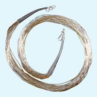 Sterling Silver and Gold Filled Liquid Necklace