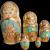 Russian Matryoshka Nesting Dolls Hand Painted 5 pc Set
