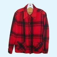 Buck Skein Joe Men's Blanket Wool Plaid Jacket Size 40