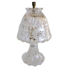Heavy Crystal Small Table Lamp