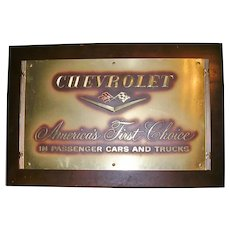 Genuine Chevrolet General Motors Promotional Plaque 1950's