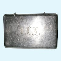 Vintage R Wallace & Sons Old English Engraved Silver Soldered Calling Card Case