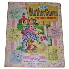 1951 Mother Goose Picture Block Set