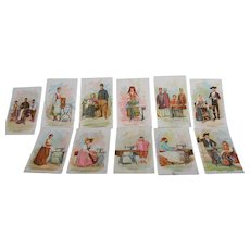 Singer Manufacturing Co. Trade Cards Costumes of All Nations Lot of 11