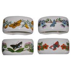 Portmeirion Botanical Garden Napkin Rings Set of 4