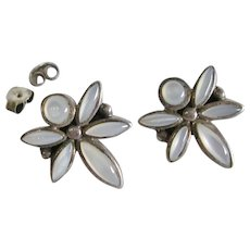 White Chalcedony Sterling Dragonfly Earrings