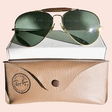 Vintage Ray-Ban Aviator Sunglasses with Browbar and Case