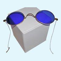Antique Cobalt Blue victorian Eyeglasses