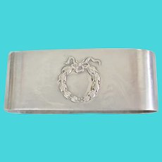 Sterling Silver Wreath Design Napkin Ring