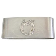 Sterling Silver Wreath Design Napkin Ring