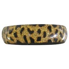 Fabulous Gold and Black Leopard Pattern Bangle