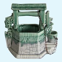 Rare McCoy Gray Pottery Wishing Well Planter