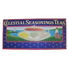 Celestial Seasonings Tin Display Panel Cranberry Cove 1995