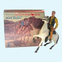 1950's Hartland Plastics Gunsmoke Matt Dillon Horse and Figure in Original Box