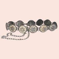 Unique Middle Eastern Kuchi Button Link Belt