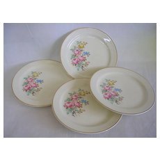 Vintage Taylor Smith Taylor Rose Pattern Bread & Butter Plates