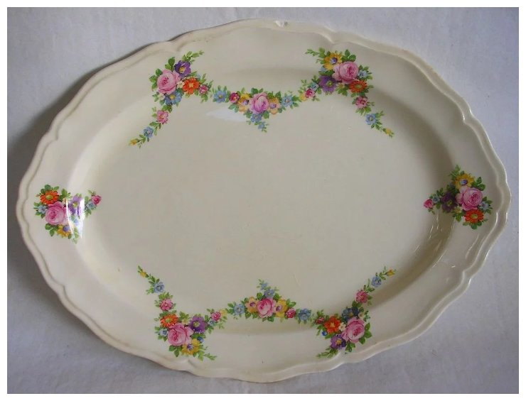 Vintage Edwin M Knowles China Floral Serving Platter : Hidden in the ...
