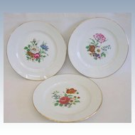 Mid Century JKW Rosenthal Floral Dessert Plates Double Marks
