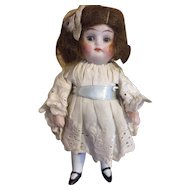 "4"" Antique All Bisque Doll, German, likely Kestner"