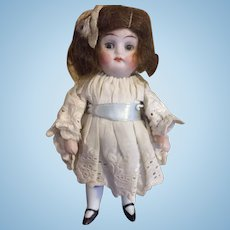 """4"""" Antique All Bisque Doll, German, likely Kestner"""