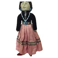 Vintage Early Navajo Cloth Doll, 9 1/2""